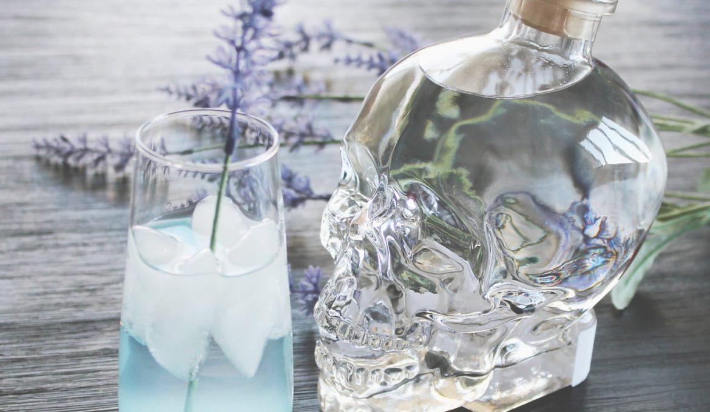 Crystal Head Vodka mit Gesicht